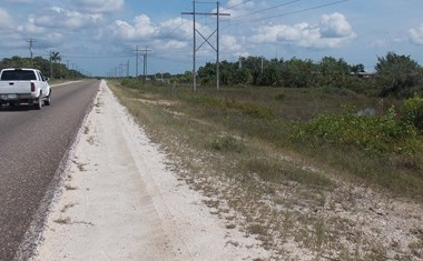 Belize City Belize - Two Acres of Land near Belize City, Belize—Property Looks Out on the Highway.